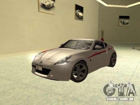 Nissan 370 Z Z34 2010 Ajustável para GTA San Andreas vista superior