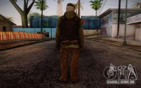 Bill from Left 4 Dead Beta para GTA San Andreas segunda tela