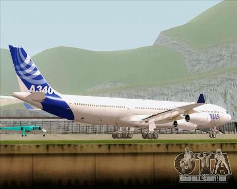 Airbus A340-300 Airbus S A S House Livery para GTA San Andreas traseira esquerda vista