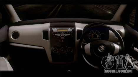 Suzuki Wagon R 2010 para GTA San Andreas traseira esquerda vista