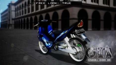 Yamaha Jupiter Z Burhan para GTA San Andreas esquerda vista