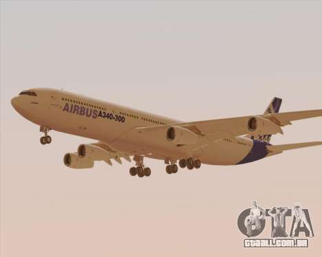 Airbus A340-300 Airbus S A S House Livery para vista lateral GTA San Andreas
