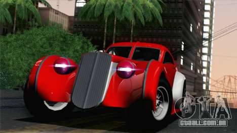 GTA V Truffade Z-Type [IVF] para GTA San Andreas traseira esquerda vista