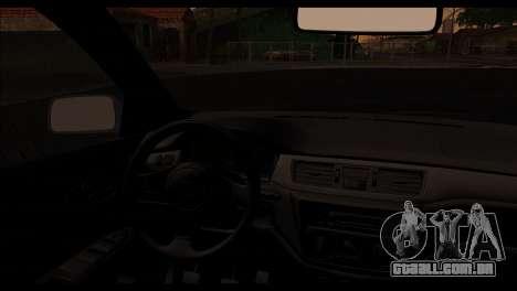 Mitsubishi Lancer Evolution para GTA San Andreas vista direita