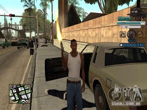 C-HUD Homem em uma Tampa para GTA San Andreas por diante tela