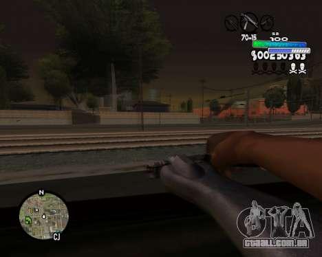 С-HUD de Metro para GTA San Andreas por diante tela