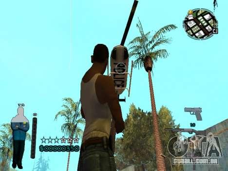FBI HUD para GTA San Andreas quinto tela