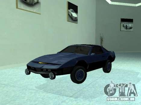 Pontiac Trans-Am K.A.R.R. para vista lateral GTA San Andreas