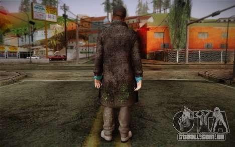 Aiden Pearce from Watch Dogs v3 para GTA San Andreas segunda tela