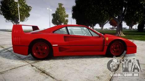 Ferrari F40 1987 [EPM] Tricolore para GTA 4 esquerda vista