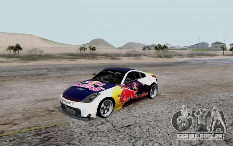 Nissan 350Z Red Bull para GTA San Andreas vista traseira