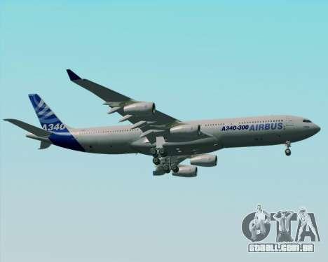 Airbus A340-300 Airbus S A S House Livery para GTA San Andreas vista superior