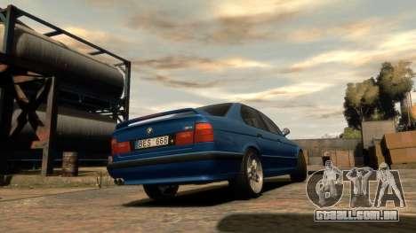 BMW M5 E34 1995 para GTA 4 esquerda vista