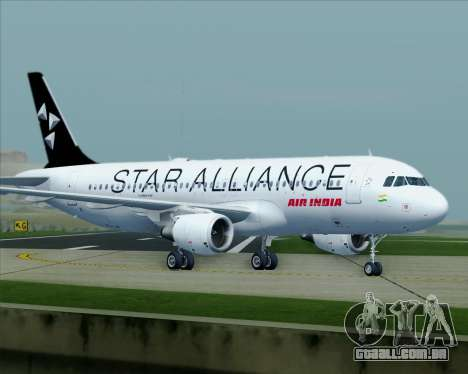 Airbus A320-200 Air India (Star Alliance Livery) para GTA San Andreas vista superior