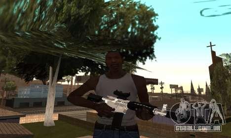 Chrome M4 para GTA San Andreas segunda tela