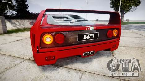 Ferrari F40 1987 [EPM] Tricolore para GTA 4 traseira esquerda vista