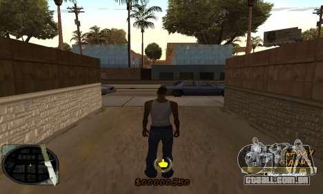 C-HUD Army Gang para GTA San Andreas segunda tela