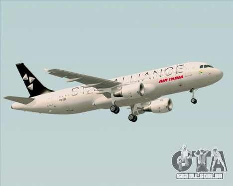 Airbus A320-200 Air India (Star Alliance Livery) para as rodas de GTA San Andreas