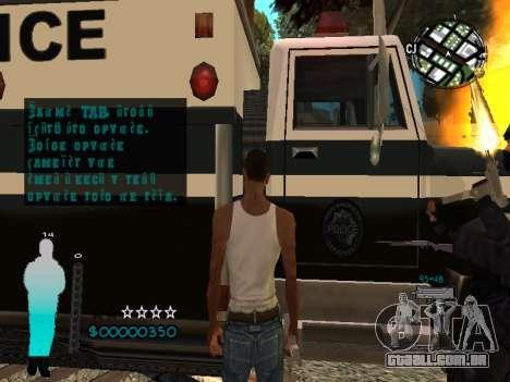 FBI HUD para GTA San Andreas sexta tela