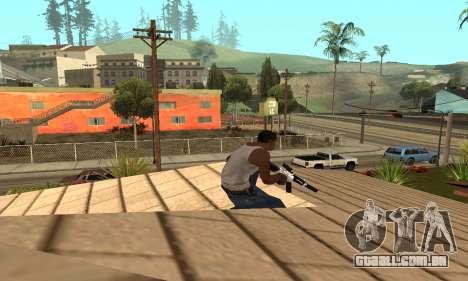 Chrome M4 para GTA San Andreas terceira tela