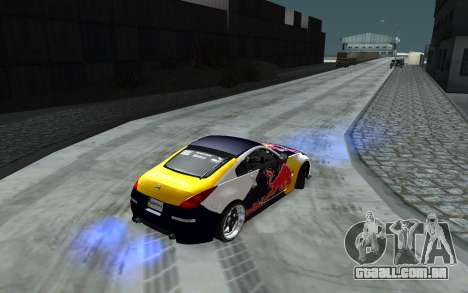 Nissan 350Z Red Bull para GTA San Andreas vista superior