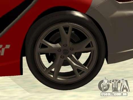 Nissan 370 Z Z34 2010 Ajustável para GTA San Andreas interior