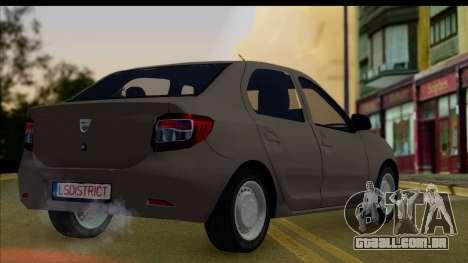 Dacia Logan 2013 para GTA San Andreas esquerda vista