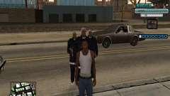 C-HUD Homem em uma Tampa para GTA San Andreas
