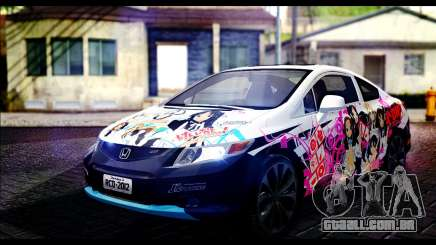 Honda Civic SI 2012 Itasha K-ON para GTA San Andreas