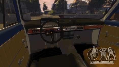 VAZ 2101 para GTA 4 vista inferior