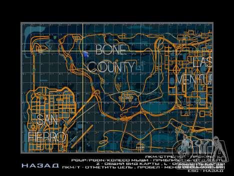 Mapa com setores no estilo de corrida para GTA San Andreas terceira tela