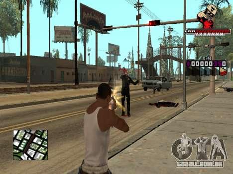 C-HUD SWAG para GTA San Andreas por diante tela