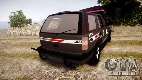 Chevrolet Blazer 2010 Rota Comando [ELS] para GTA 4 traseira esquerda vista