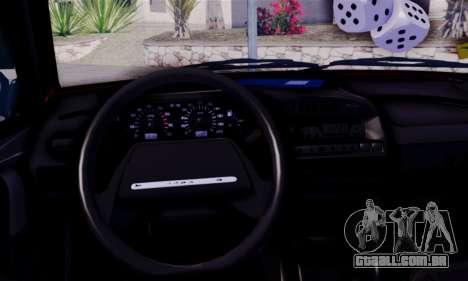 Lada 2109 para GTA San Andreas traseira esquerda vista