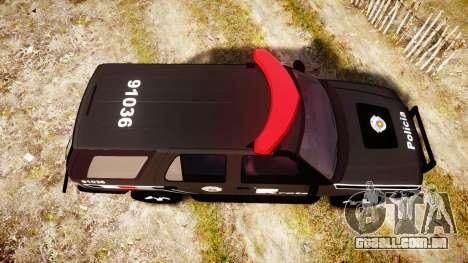 Chevrolet Blazer 2010 Rota Comando [ELS] para GTA 4 vista direita