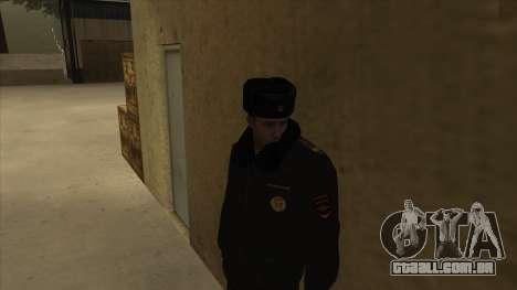 A polícia da Rússia - inverno formulário para GTA San Andreas terceira tela