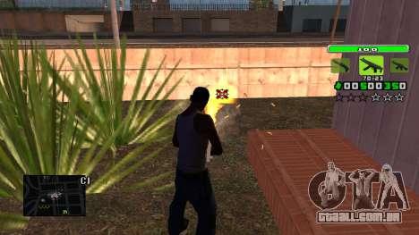 Light Green C-HUD para GTA San Andreas terceira tela