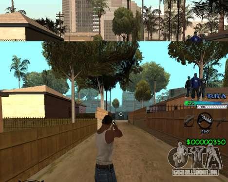 C-HUD Rifa para GTA San Andreas por diante tela