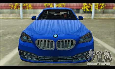BMW 5 series F10 2014 para GTA San Andreas vista traseira