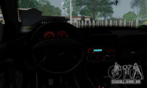 BMW 525 E34 Rims para GTA San Andreas vista interior