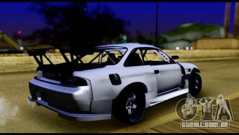 Nissan Silvia S14 DC Hunter para GTA San Andreas esquerda vista