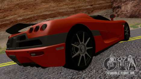 Koenigsegg CCX 2006 Road Version para GTA San Andreas vista direita