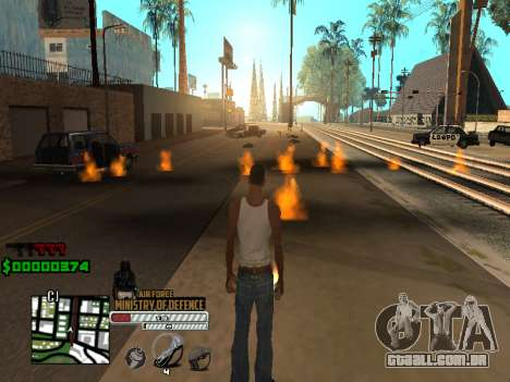 C-HUD Air Force para GTA San Andreas por diante tela