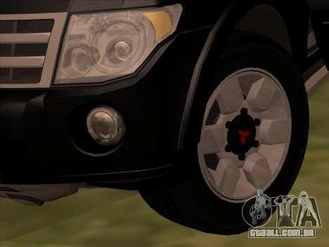 Mitsubishi Pajero para vista lateral GTA San Andreas