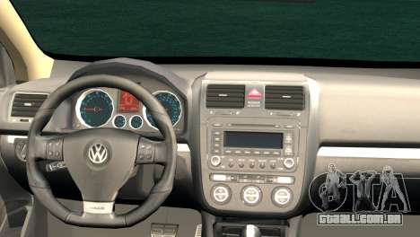 Volkswagen Golf Mk5 para GTA San Andreas traseira esquerda vista