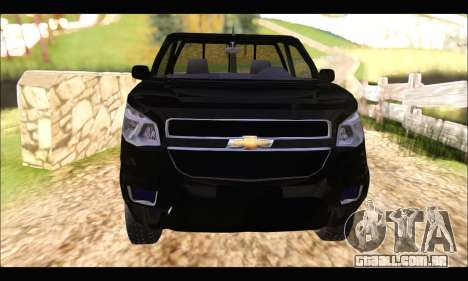 Chevrolet S10 Cabina Simple 2014 para GTA San Andreas vista direita