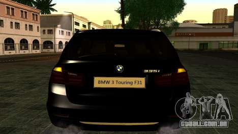 BMW 3 Touring F31 2013 1.0 para GTA San Andreas vista traseira