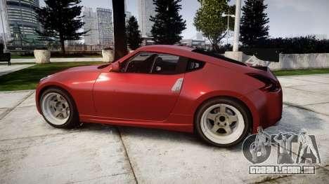 Nissan 370Z Stance para GTA 4 esquerda vista