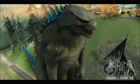 Godzilla 2014 para GTA San Andreas quinto tela