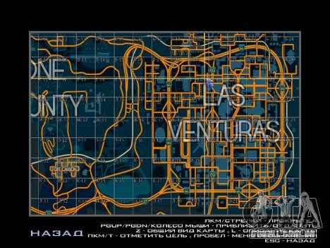 Mapa com setores no estilo de corrida para GTA San Andreas